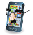 mobile phone theft concept vector image vector image