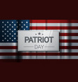 national usa patriot day united states holiday vector image vector image