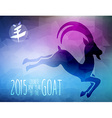 New Year of the Goat 2015 triangle vector image