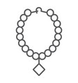 pearl necklace thin line icon jewelry and vector image vector image