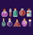 potion magic bottles fantasy flat gaming icon vector image