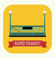 Rapid Transit Icon vector image