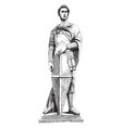 saint george was sculpture great artist vector image