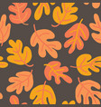 seamless pattern of autumn oak leaves vector image vector image