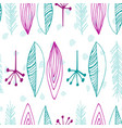 seamless pattern with abstract feathers vector image vector image