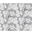 Seamless pattern with hand drawn guelder rose vector image