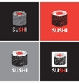 set abstract banners on theme sushi vector image