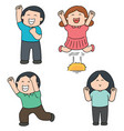 set of happy people vector image vector image