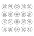 set round line icons of support vector image vector image