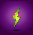 shining electricity icon green energy symbol vector image