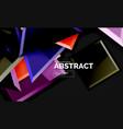 shiny style geometric background vector image