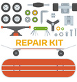 Skateboarding Repairs Kit vector image vector image