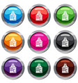 small house set 9 collection vector image vector image