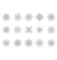 snowflake icon background set white color vector image vector image