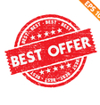 Stamp sticker best offer collection - - EPS vector image vector image