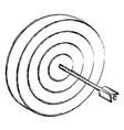 target dartboard symbol 3d vector image vector image