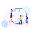 time management organization vector image vector image