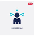 two color business skills icon from business and vector image vector image