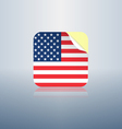 USA peeling sticker rounded corners vector image vector image