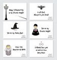 valentine s day cards in harry potter style vector image vector image
