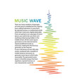 vertical music wave element audio color equalizer vector image
