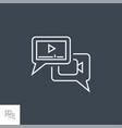 video marketing line icon vector image vector image