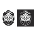 vintage wild animal monochrome badge vector image vector image