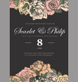 wedding card with vintage flower templates vector image vector image