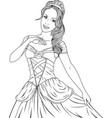 coloring the beautiful princess vector image