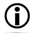 information icon on white background information vector image