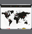 travel map with flags vector image