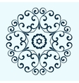 Decorative round frame Abstract floral ornament vector image