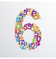 number six from numbers vector image