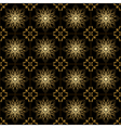 black and golden geometric texture vector image