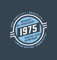 1975 athletic department - typography vintage logo vector image vector image