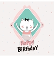 Animal Birthday greeting card design vector image vector image
