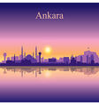 Ankara silhouette on sunset background vector image vector image