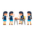 asian girl primary school child teenage vector image vector image