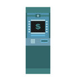 atm isolated financial apparatus for issuing cash vector image