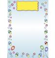 baby toys border vector image vector image