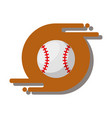 baseball ballsport recreation equipment vector image