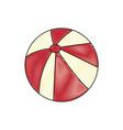 beach ball icon vector image vector image