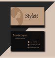 black minimal business card images vector image vector image