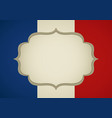 blank frame on french insignia vector image vector image
