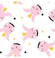 bunny seamless pattern design vector image