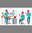 business man character working man vector image vector image