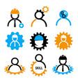 development skills icon set in industrial vector image