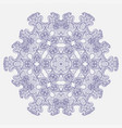 geometrical and flower round mandala vector image
