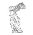 greek famous nike statue greece landmark symbol vector image vector image