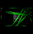 green ribbon wave on a black background layout vector image